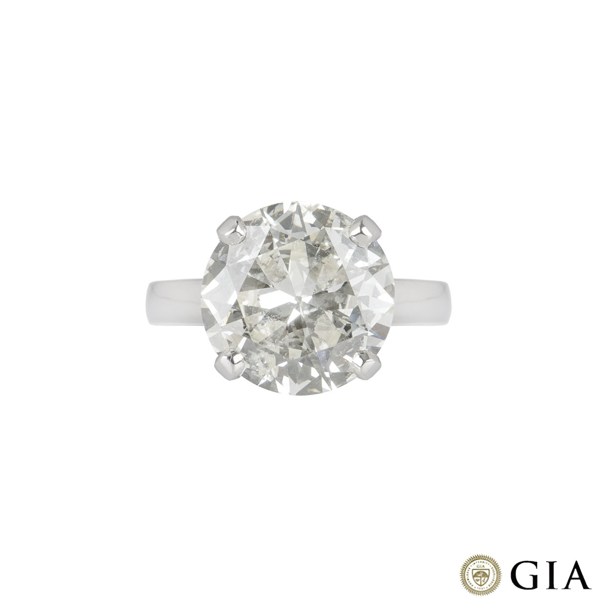 Platinum Round Brilliant Cut Diamond Ring 6.51ct N/I1
